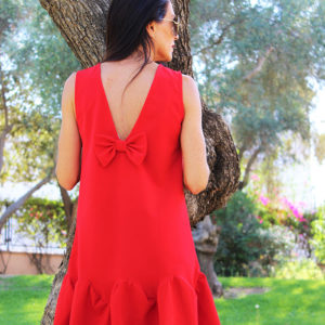 Vestido-rojo-lazo-Libe-llule