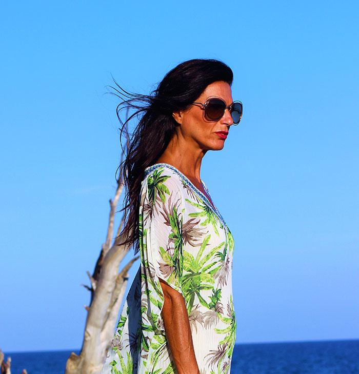 Blusón-vestido-tropical-verde-1