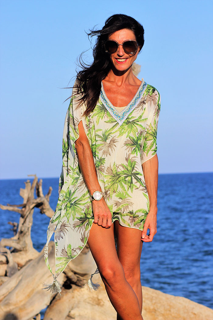 Blusón-vestido-tropical-verde-5